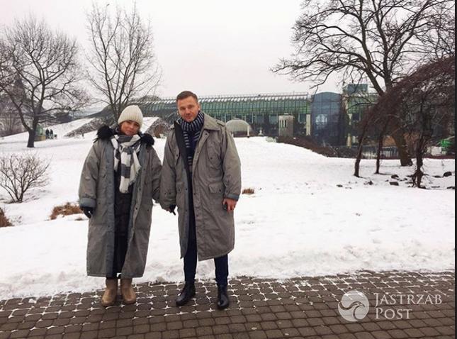Anna Mucha na spacerze z Krystianem Wieczorkiem - Instagram
