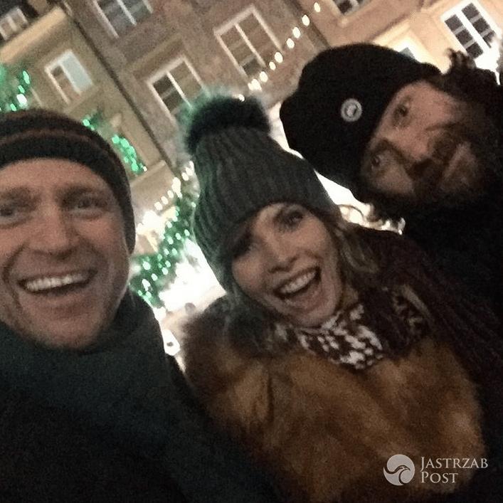 Piotr Adamczyk i Agnieszka Dygant na planie Listy do M 3 - Instagram