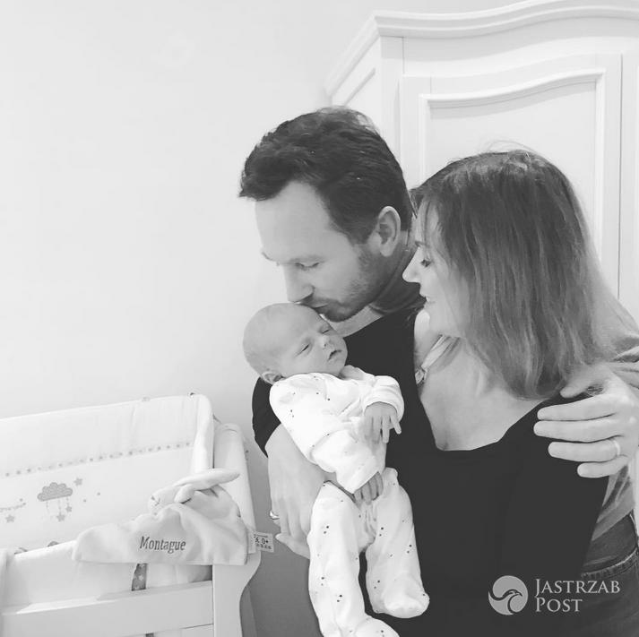 Geri Halliwell z mężem i 2-tygodniowym synkiem Montague - instagram