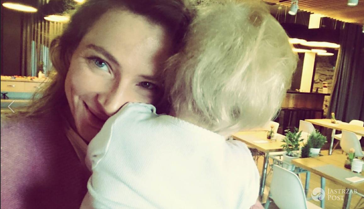 Anna Dereszowska z synem - Facebook