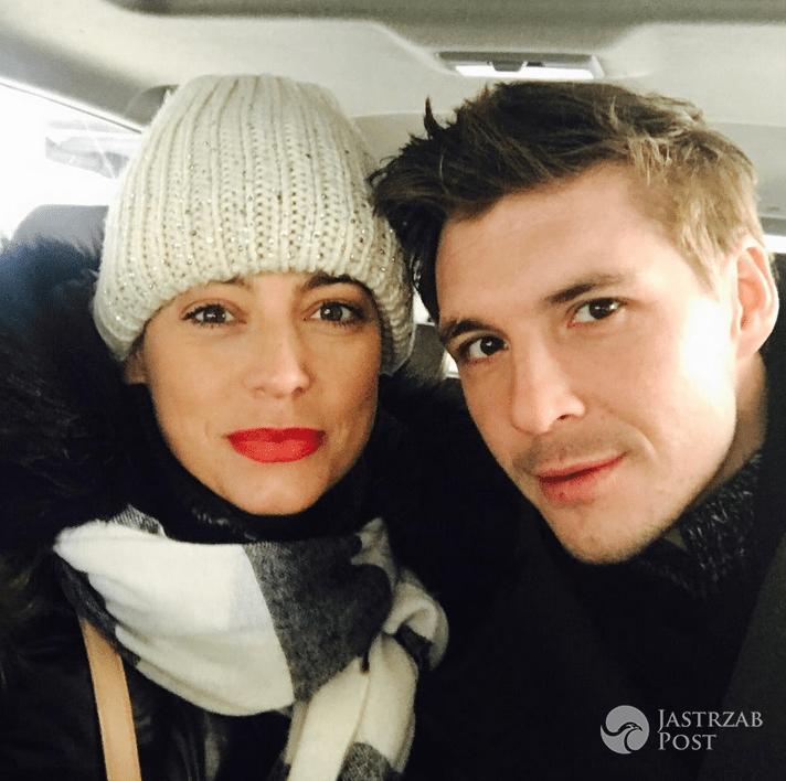 Anna Mucha z Mikołajem Roznerskim na planie M jak miłość - Instagram