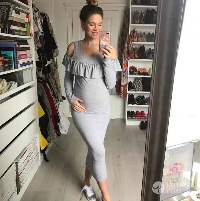 Zofia Ślotała w ciąży