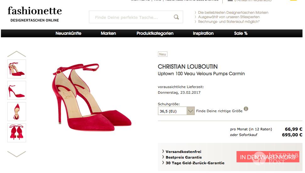 Czerwone szpilki Christiana Louboutina
