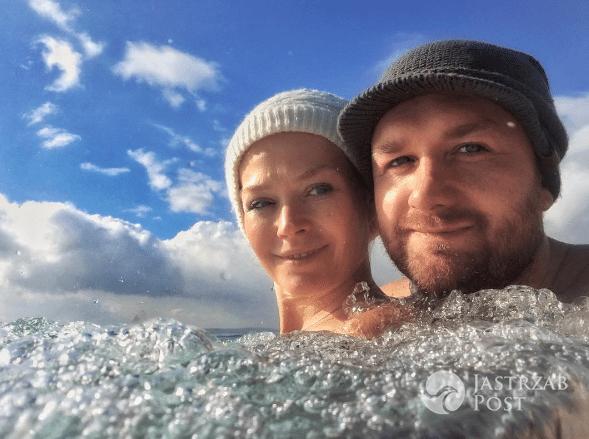 Tamara Arciuch i Bartek Kasprzykowski w basenie