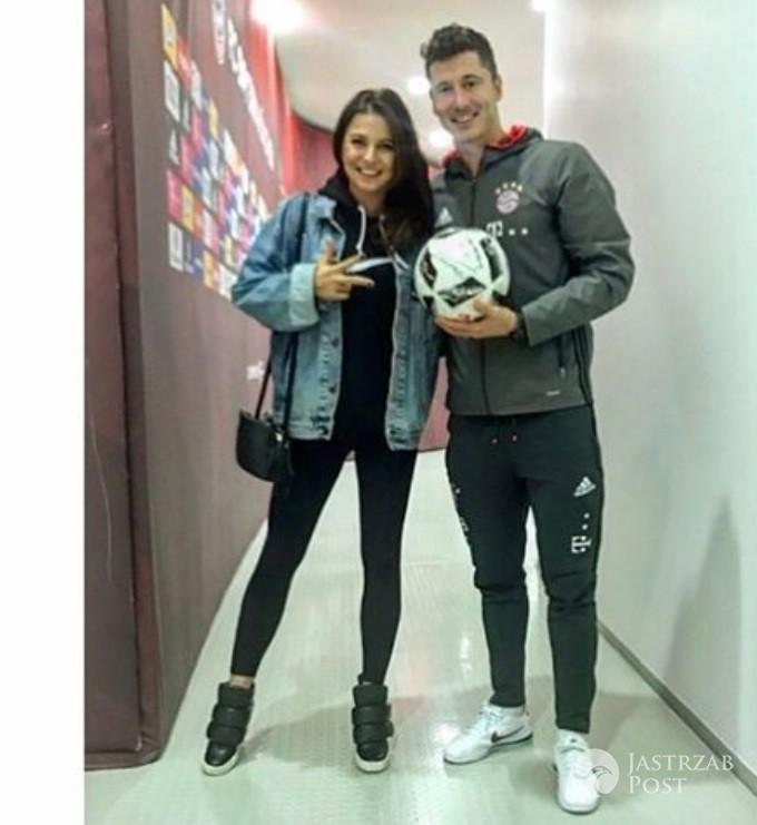 Anna i Robert Lewandowscy po meczu