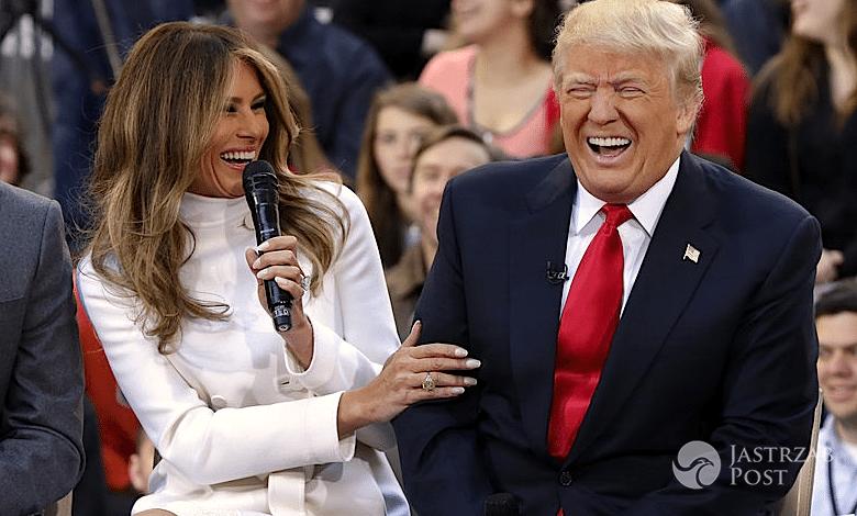 Melania Trump i jej mąż Donald Trump