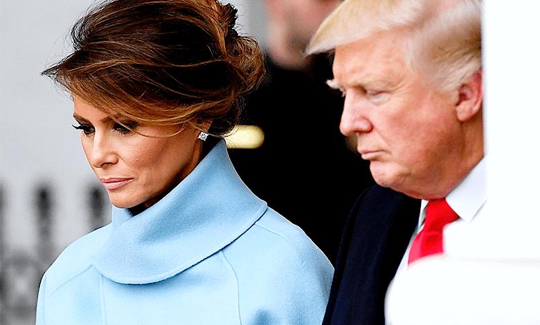Melania Trump smutna