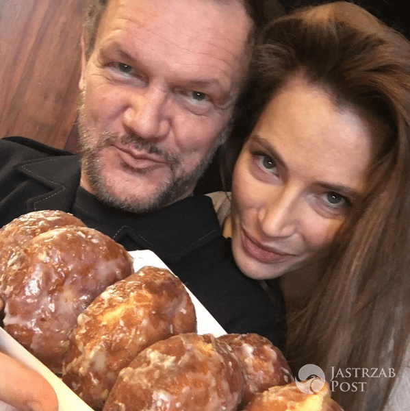 Cezary Pazura i Anna Dereszowska też zjedli pączki