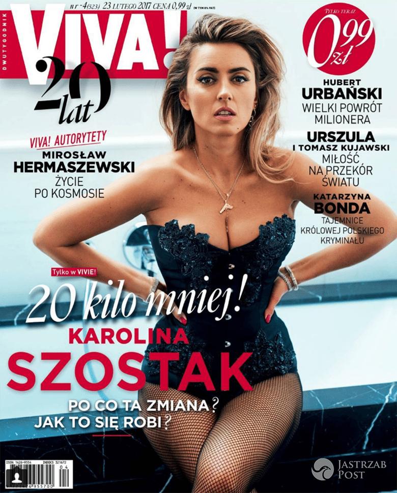 Karolina Szostak na okładce Vivy! luty 2017