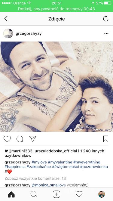 Agnieszka i Grzegorz Hyży - Instagram