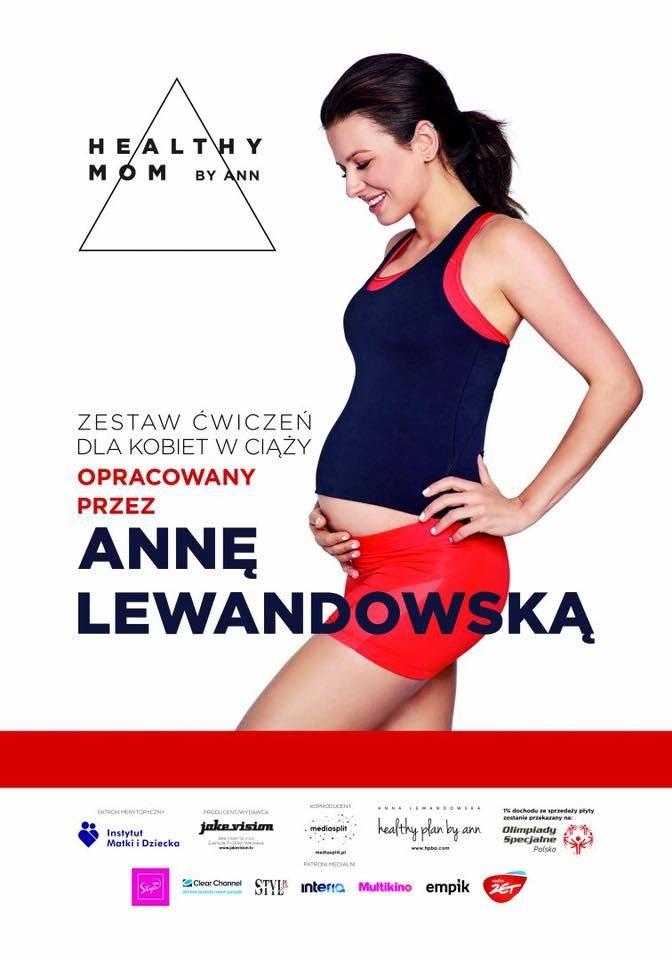 Anna Lewandowska w ciąży promuje DVD z ćwiczeniami