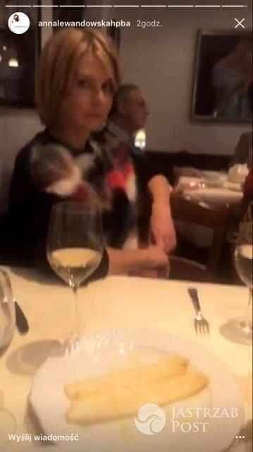 Anna i Robert Lewandowscy na kolacji z Cezarym i Edytą Pazurami
