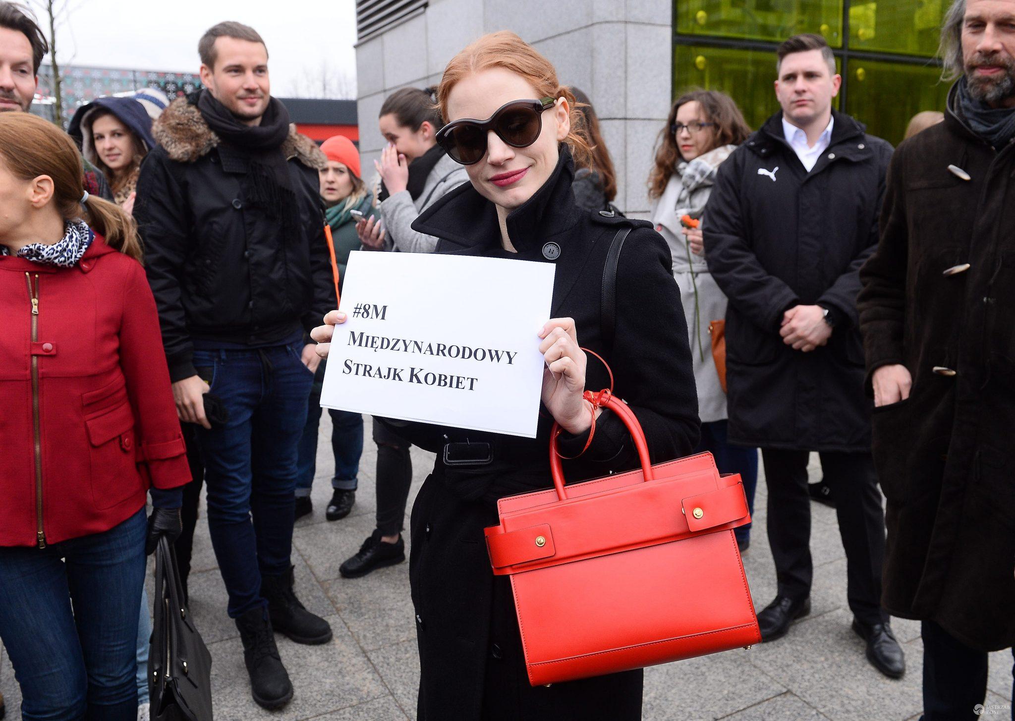 Jessica Chastain wspiera polskie kobiety