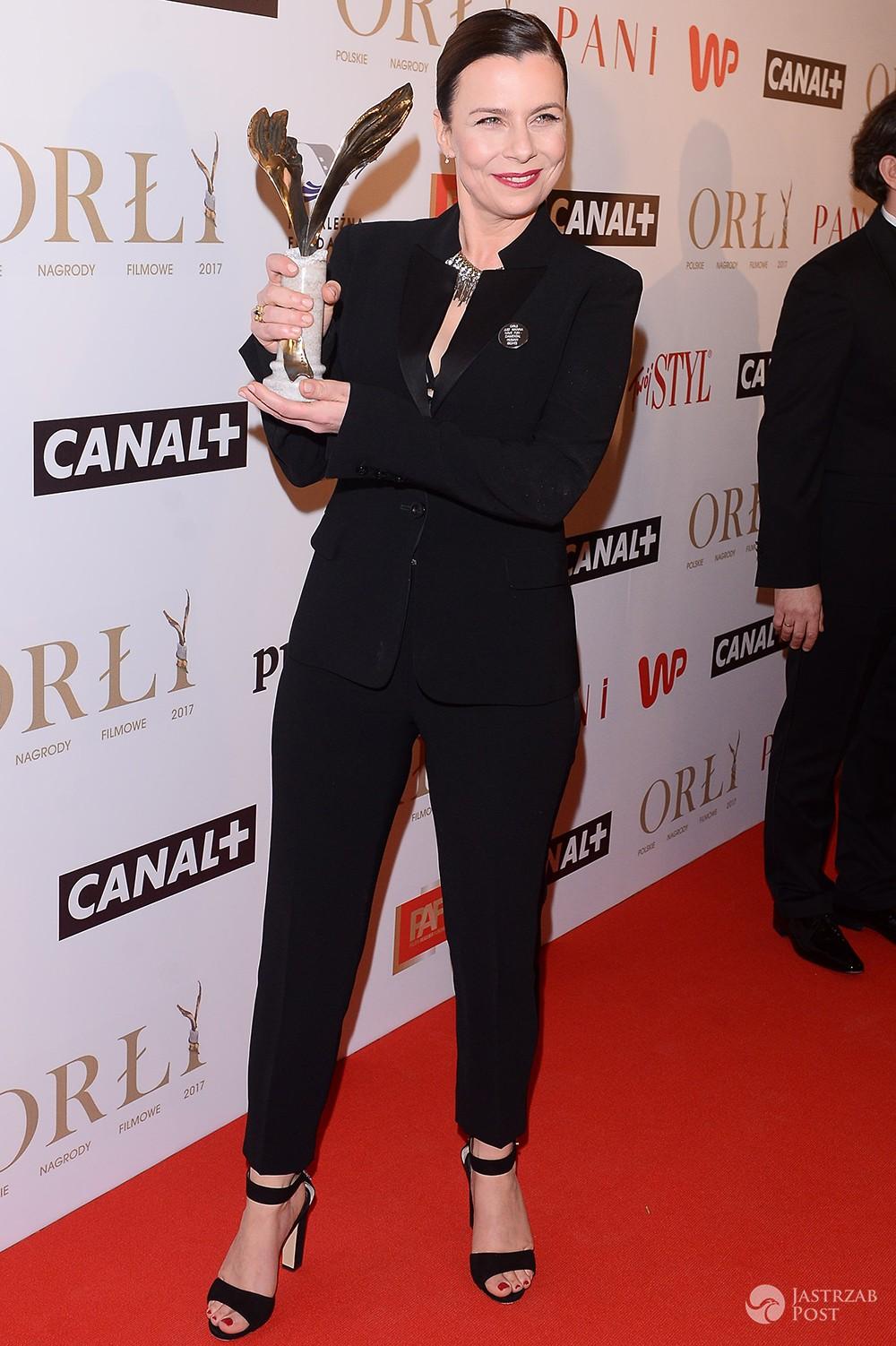 Agata Kulesza z nagrodą Orły 2017