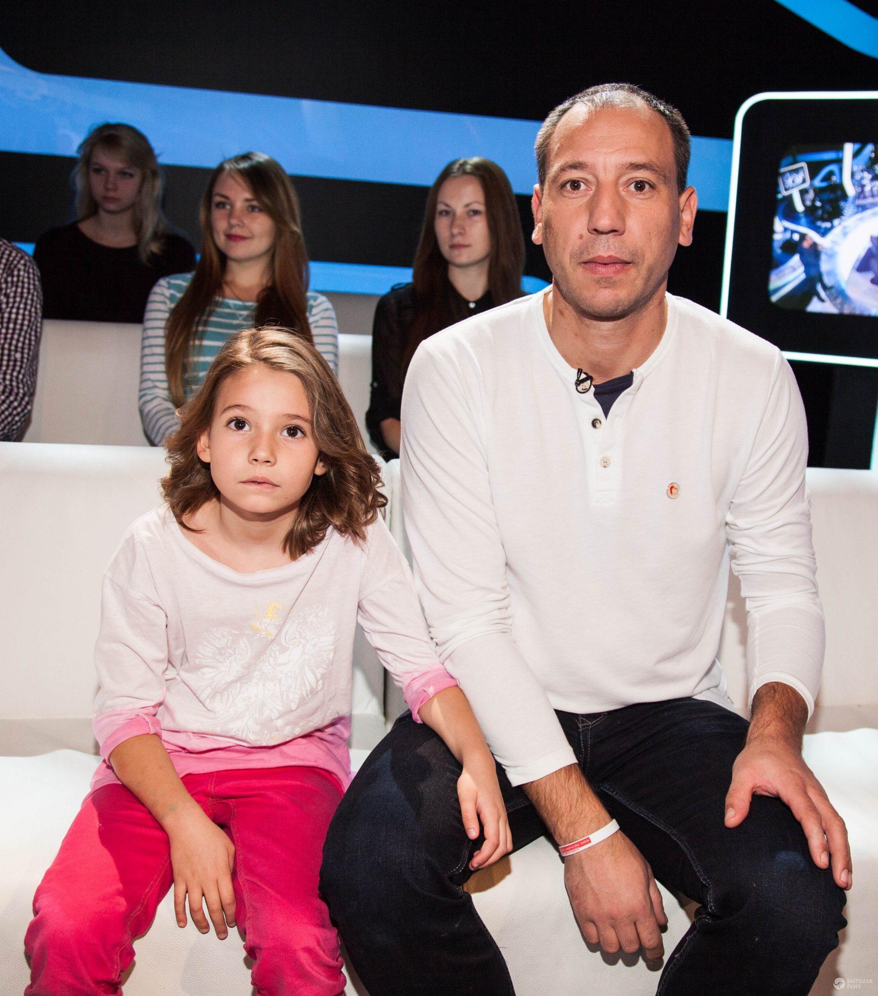 Jacek Olszewski z córką w 2014 roku