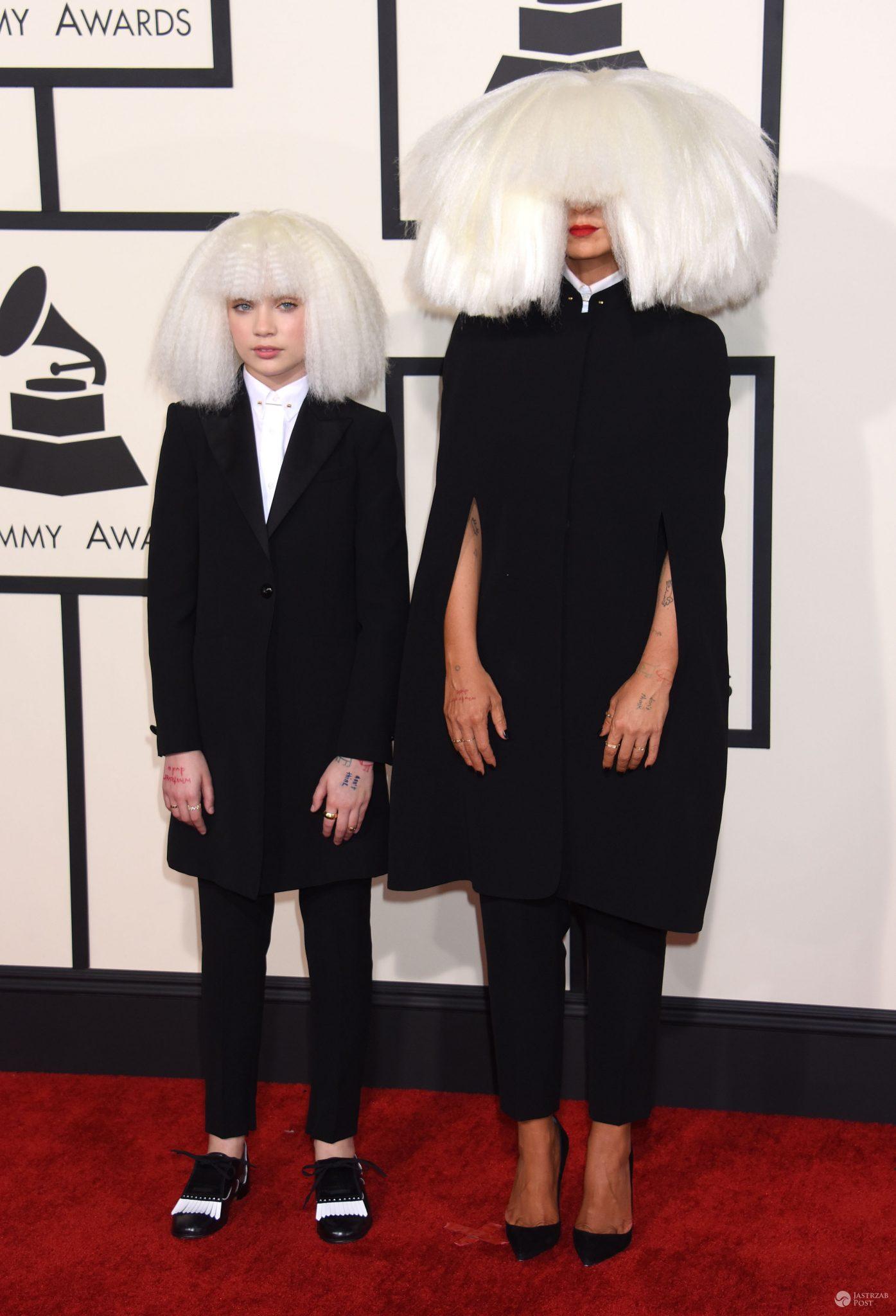 Sia w peruce na Grammy 2016