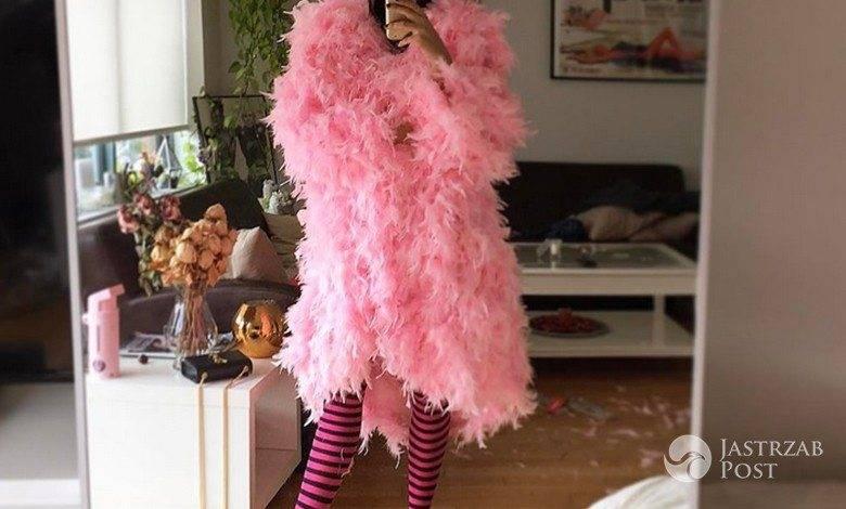 Zuzanna Bijoch w stroju flaminga