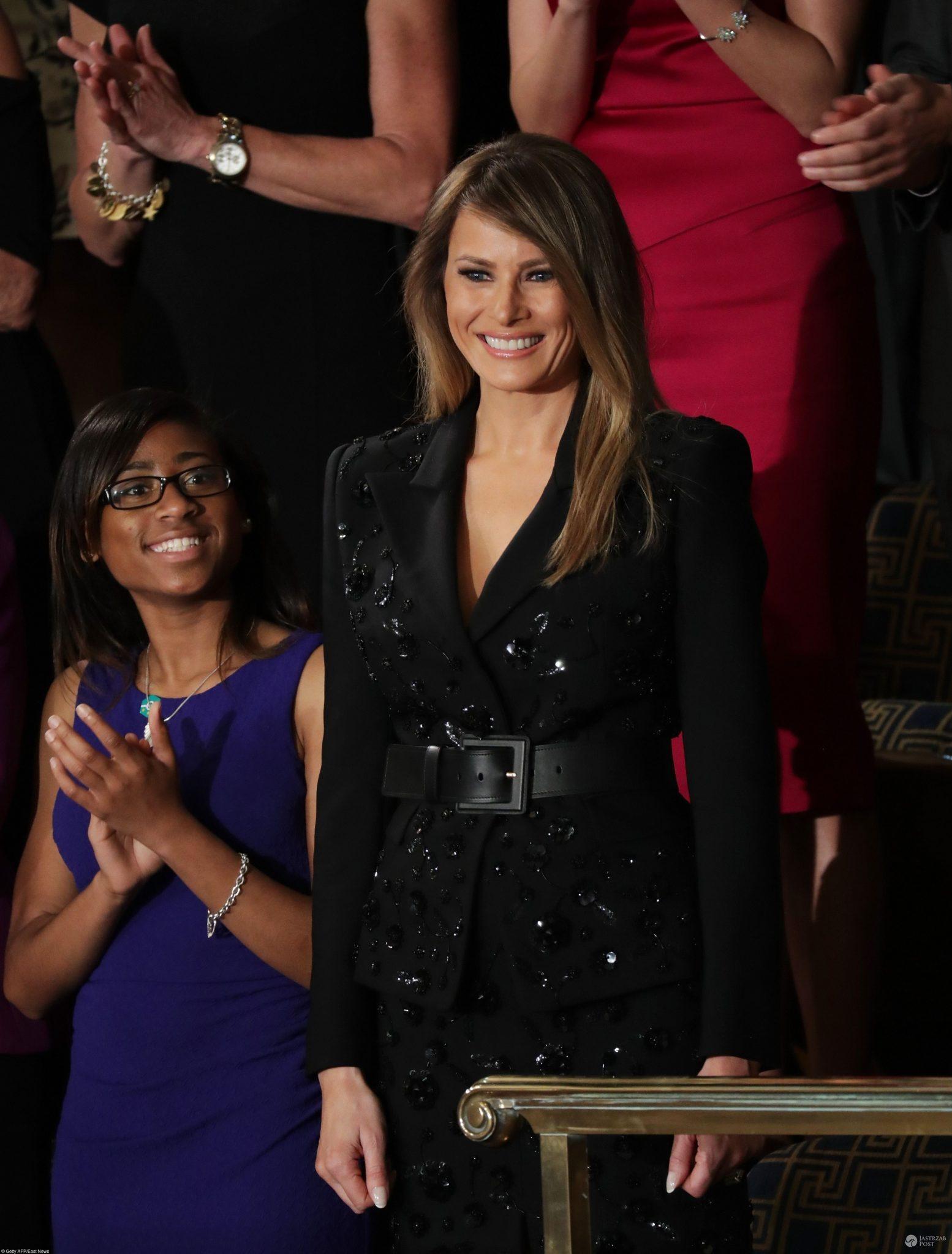 Melania Trump na Kongresie w komplecie za 40 tysięcy złotych