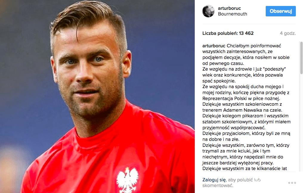 Artur Boruc odszedł z kadry