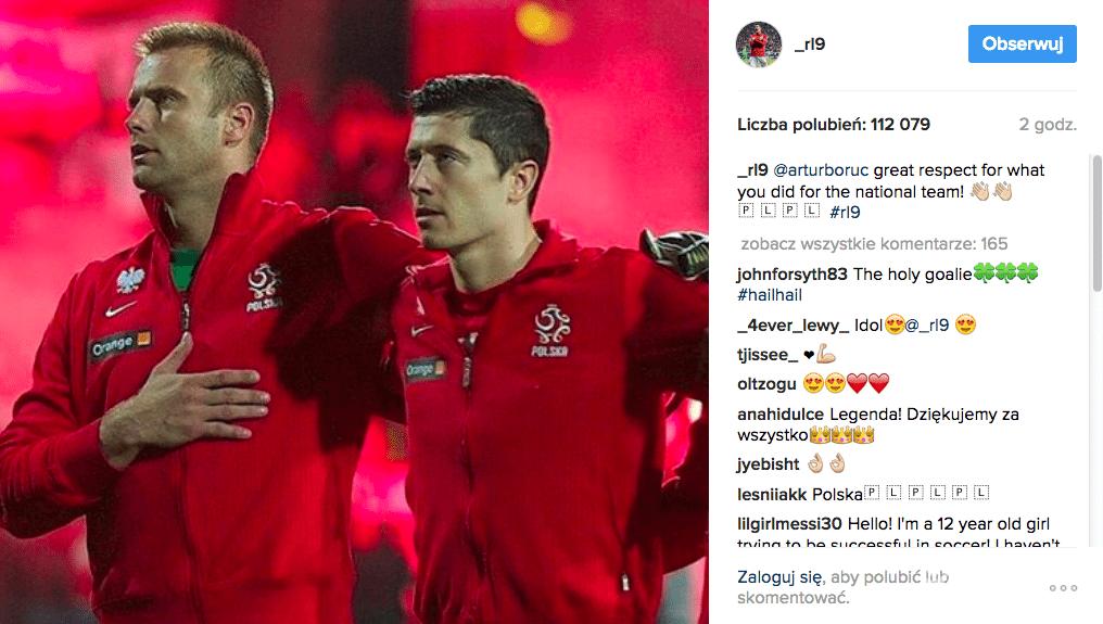 Robert Lewandowski o odejściu Artura Boruca z reprezentacji