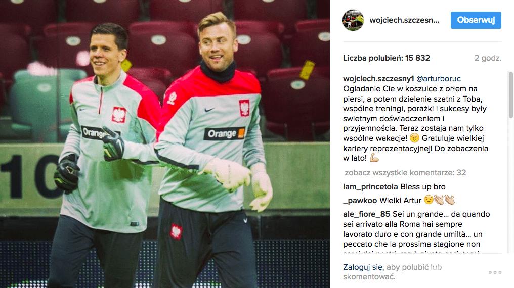 Artur Boruc odszedł z kadry. Komentuje Wojciech Szczęsny