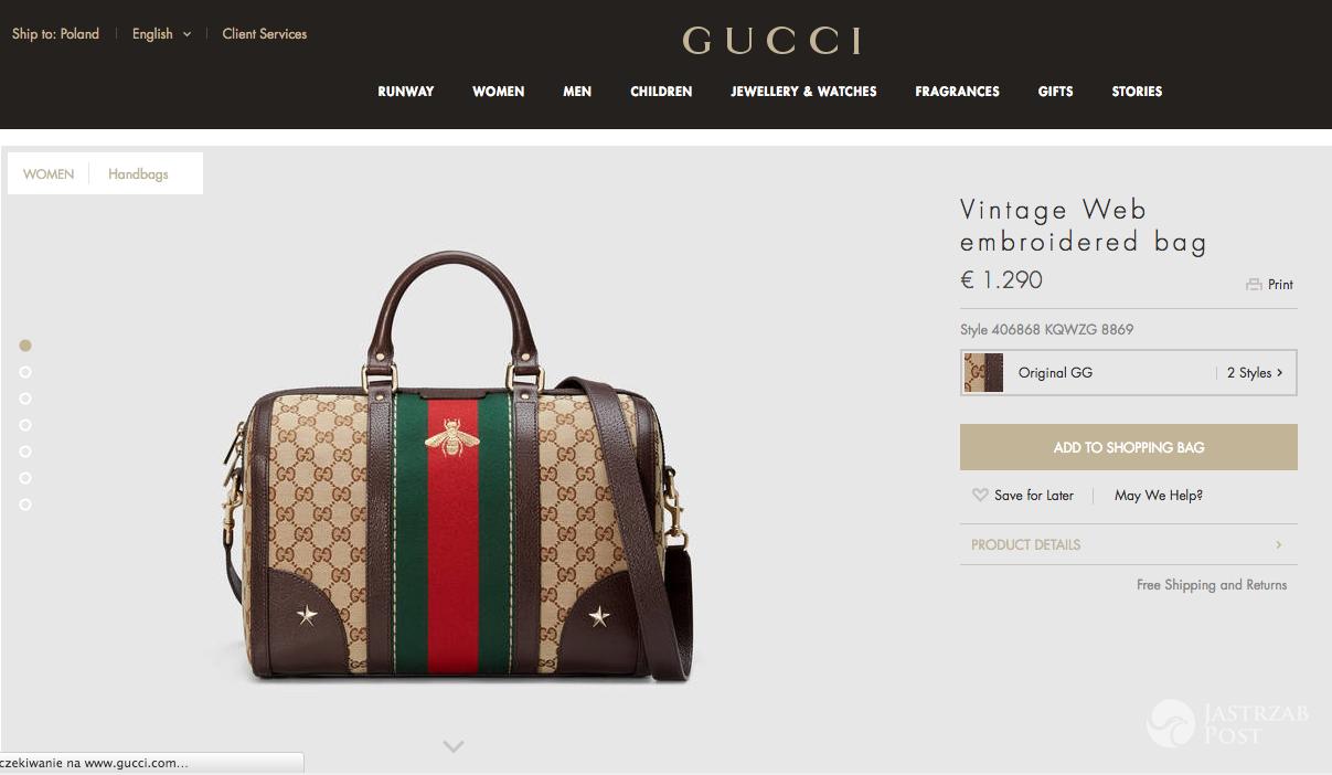 Torebka Gucci za 6 tysięcy złotych