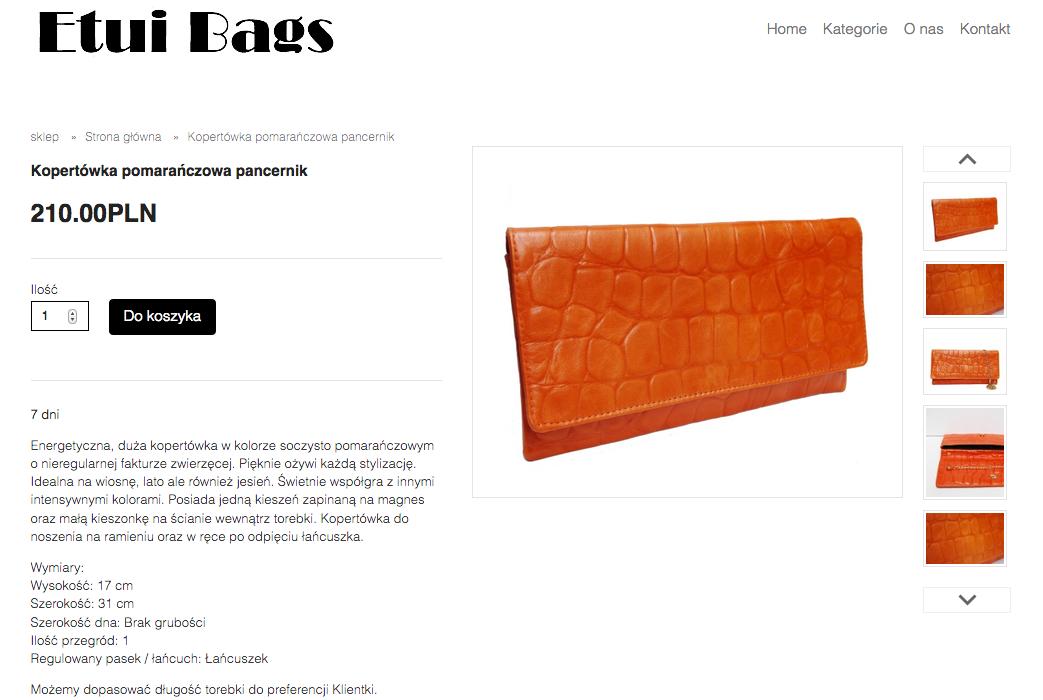 Etui Bags - pomarańczowa wersja torebki księżnej Kate