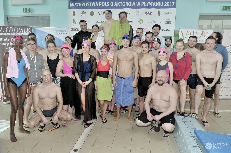 Ekipa Mistrzostwa Polski Aktorów w Pływaniu 2017