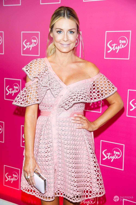 Małgorzata Rozenek w różowej sukni