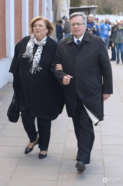 Bronisław i Anna Komorowscy - pogrzeb Wojciecha Młynarskiego 2017