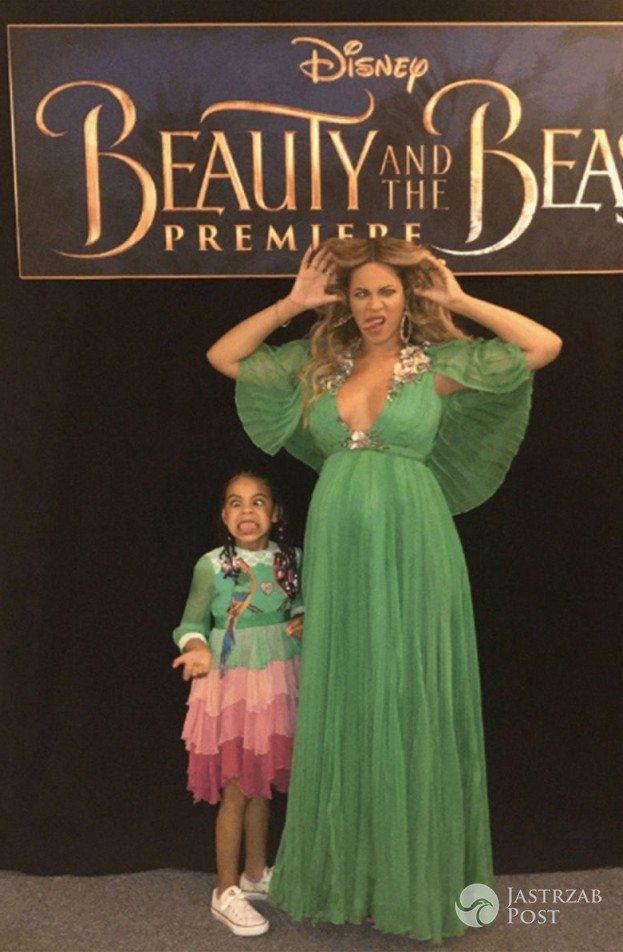Ciężarna Beyonce z córką Blue Ivy