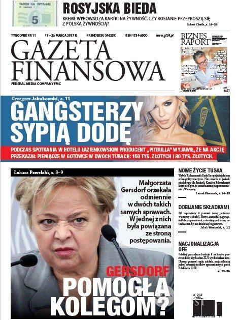 Gazeta Finansowa: Gangsterzy sypią na dodę