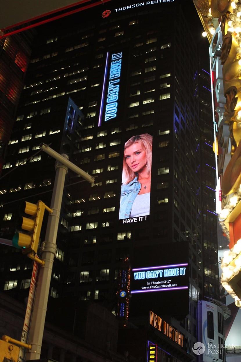 Joanna Krupa na Times Square