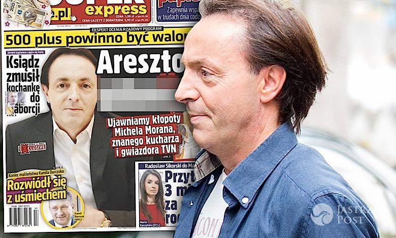 Michel Moran aresztowany za alimenty