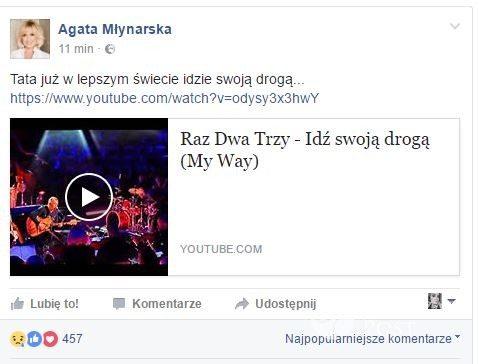 Agata Młynarska żegna Wojciecha Młynarskiego