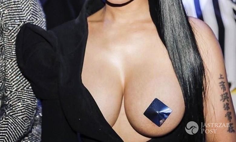 Stylizacja Nicki Minaj podczas paryskiego Fashion Weeku 2017