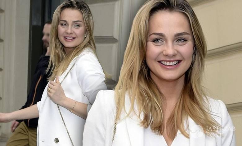 Małgorzata Socha w białej stylizacji