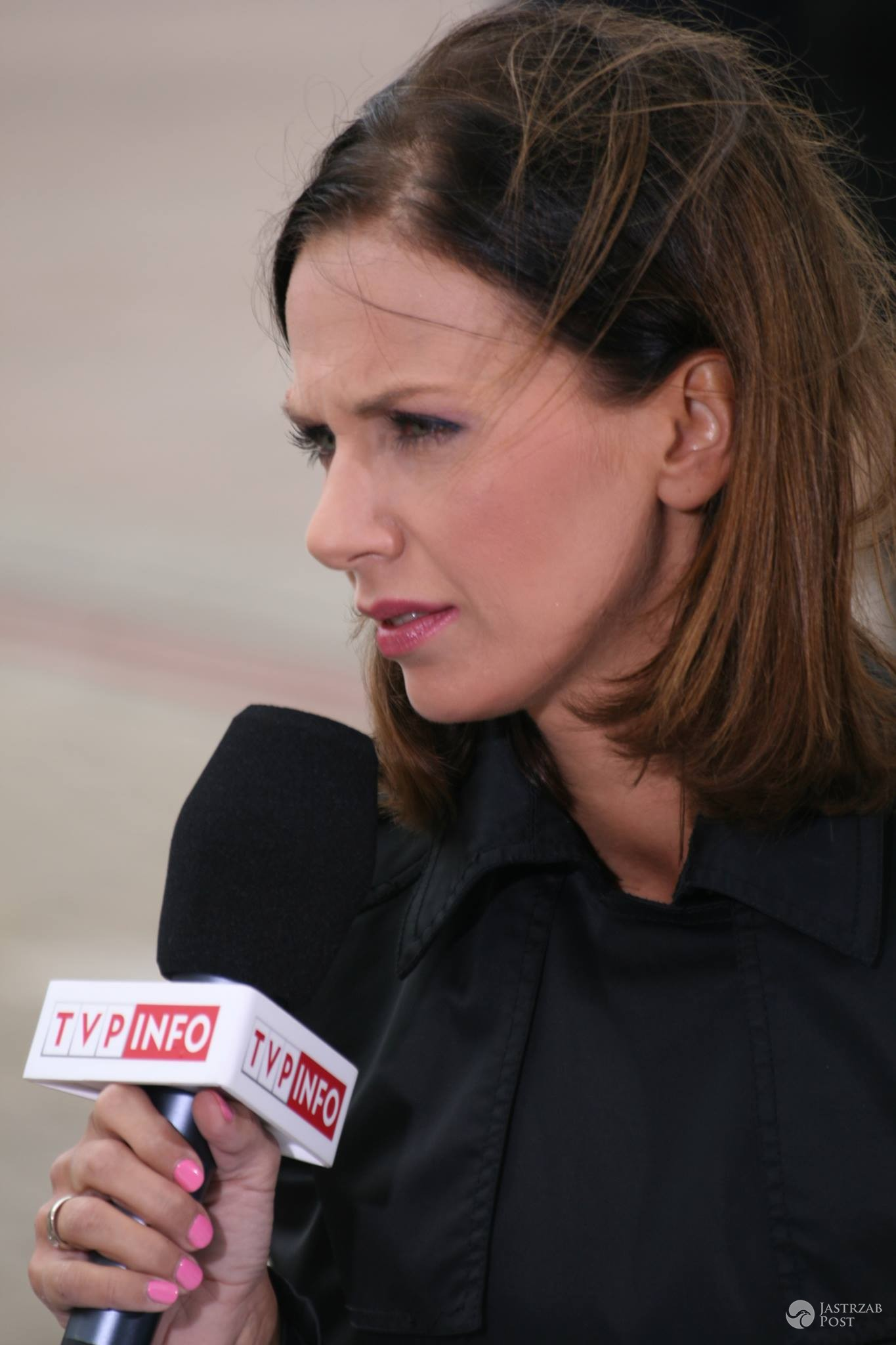 Agata Biały-Cholewińska prowadzącą Teleexpress