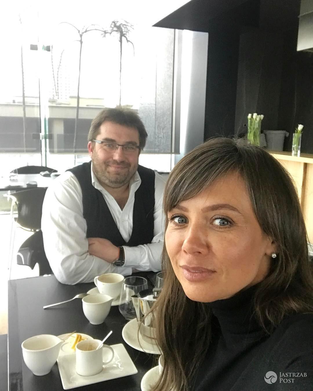 Kinga Rusin i Bartek Węglarczyk na lunchu