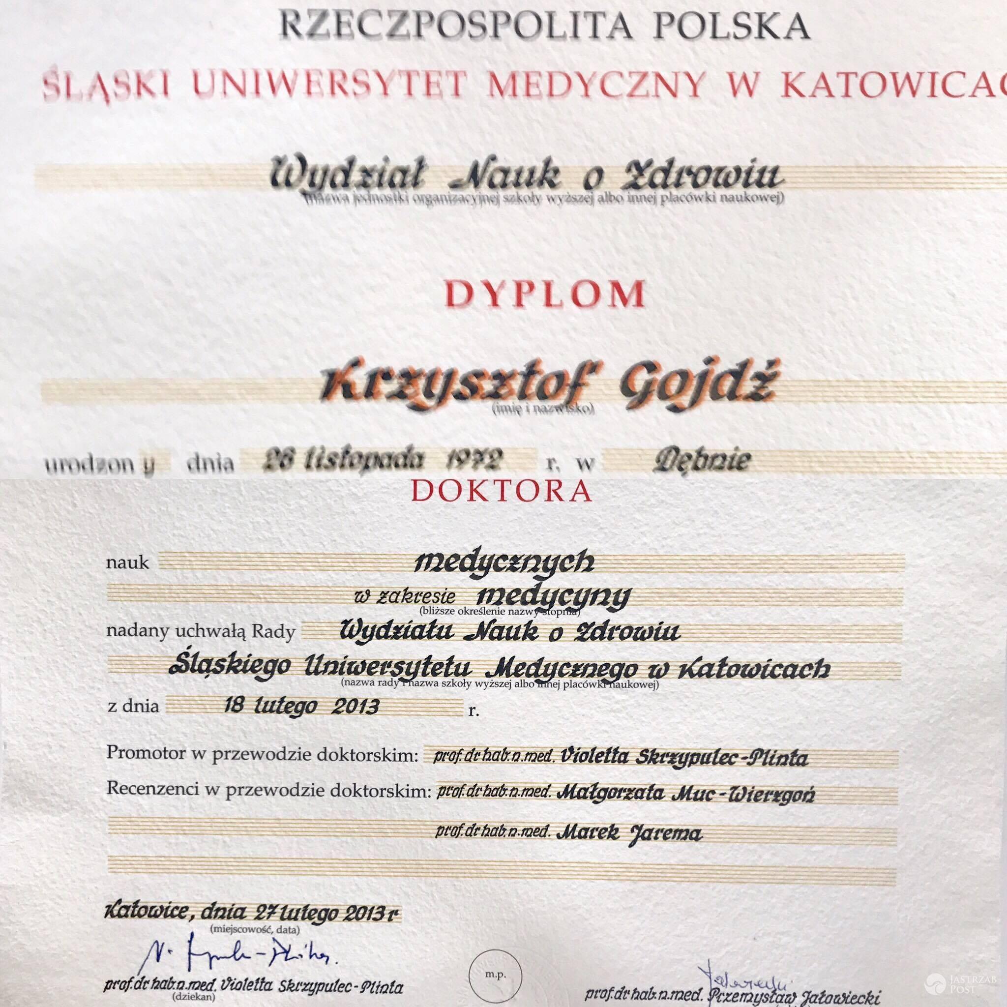 Krzysztof Gojdź wykształcenie