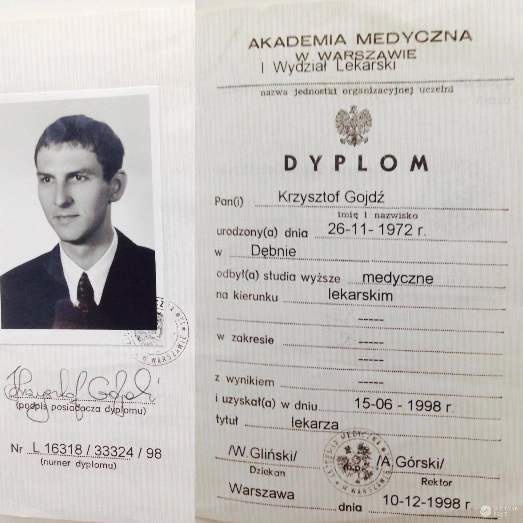 Gdzie studiował Krzysztof Gojdź?