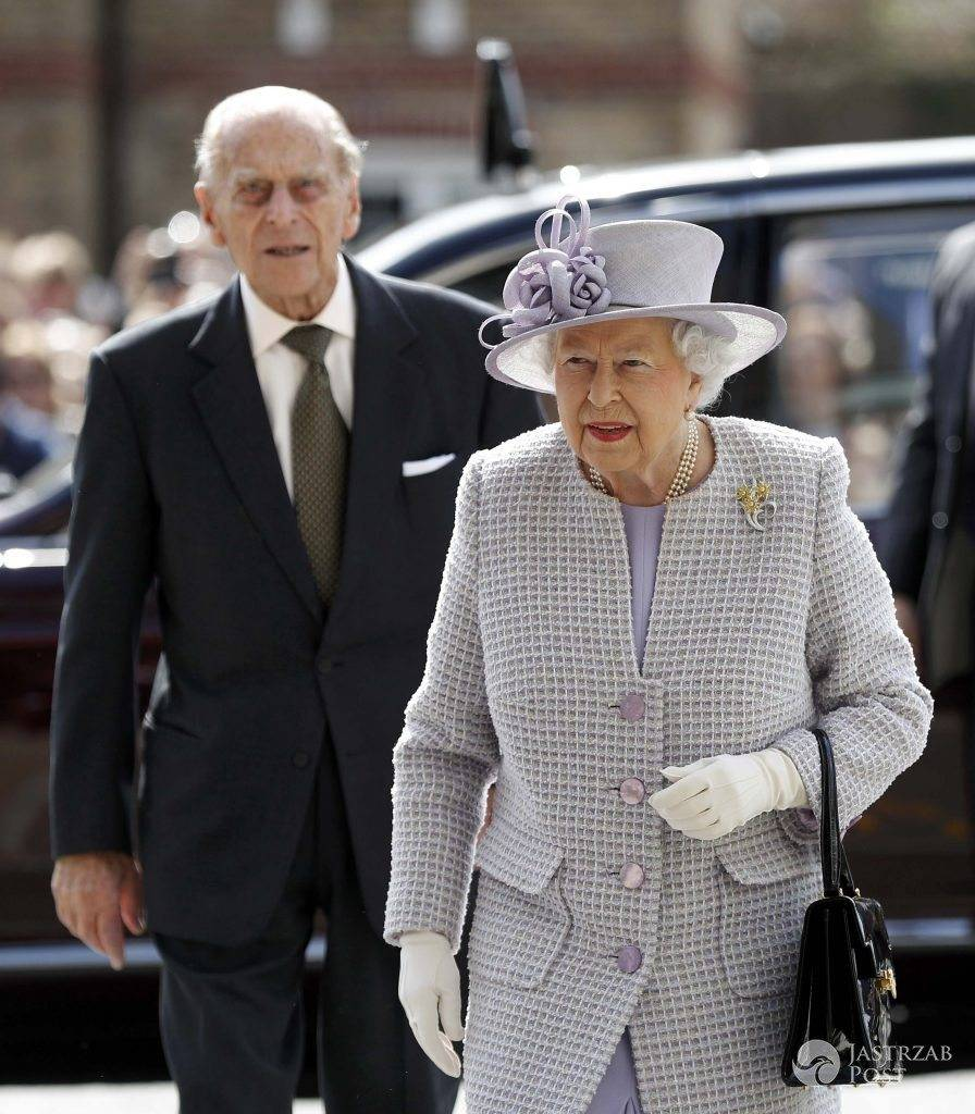 Britain's Queen Elizabeth and Prince Philip arrive at Priory View, an independent living scheme for older residents, in Dunstable