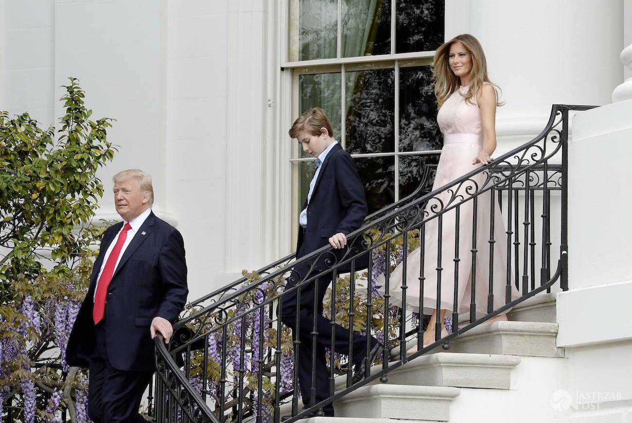Melania Trump we wrzosowej sukience