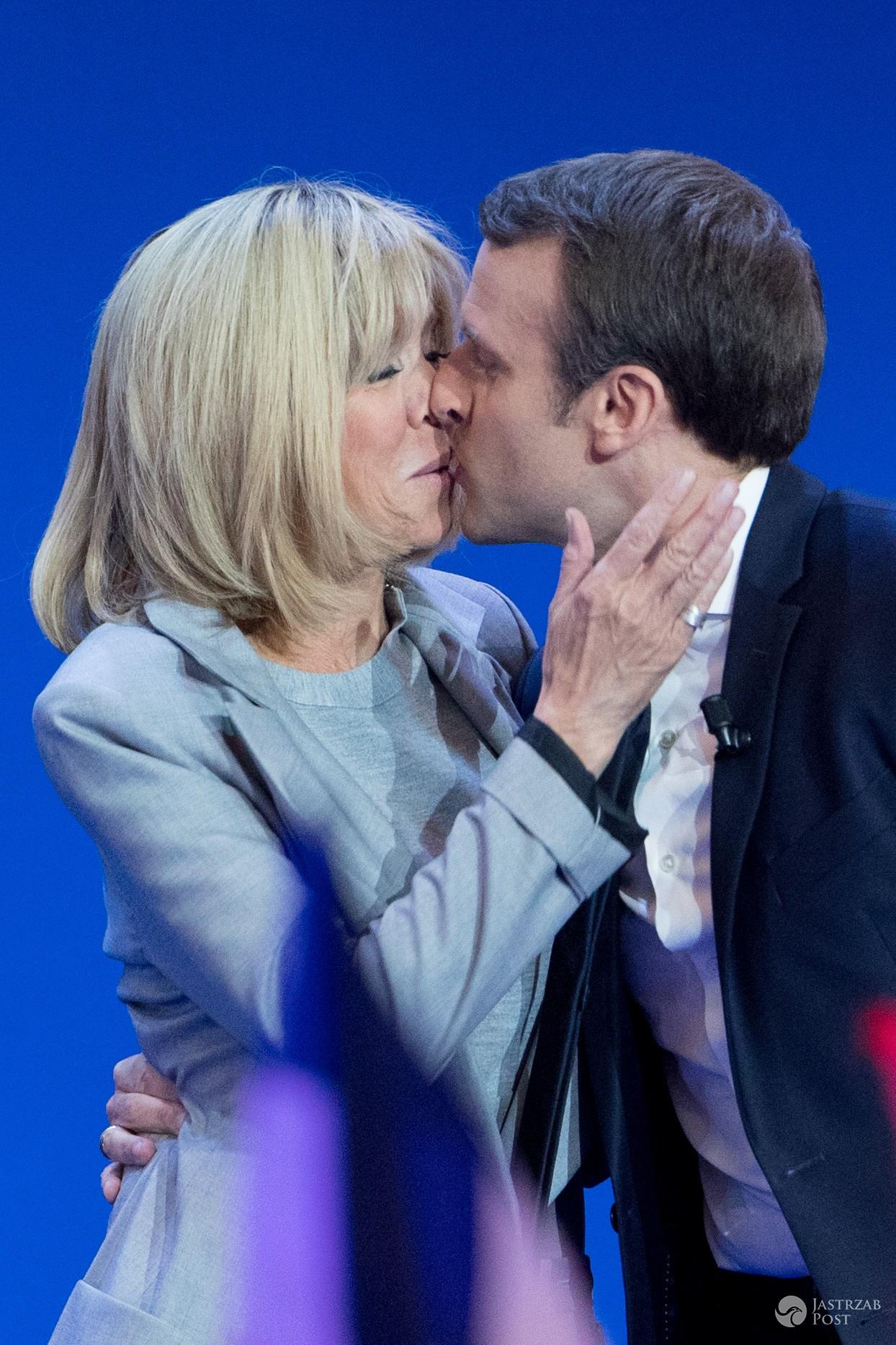 Emmanuel Macron z żoną Brigitte Trogneux