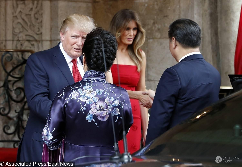 Melania Trump i Donald w Chinach