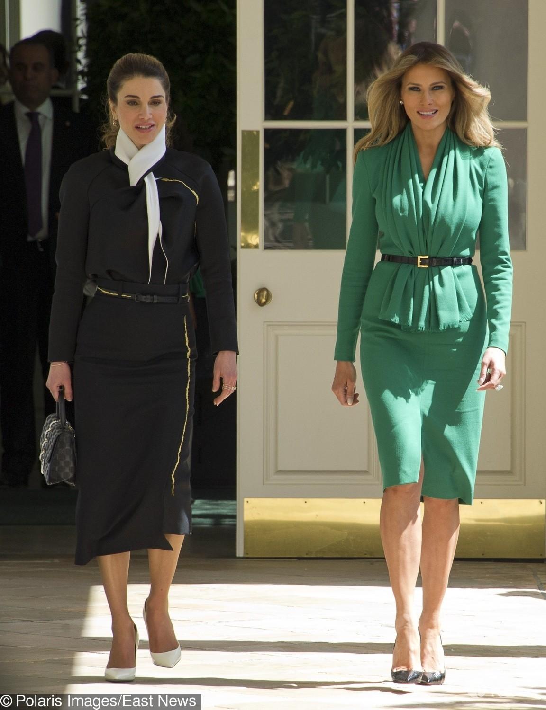 Melania Trump i królowa Rania (Jordania)