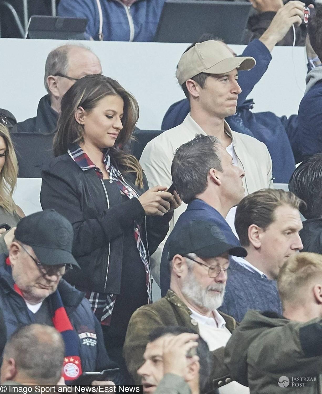 Anna Lewandowska z Robertem na meczu Bayern - Real Madryt