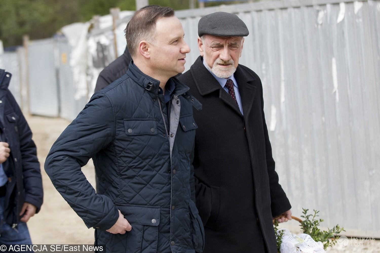 Andrzej Duda z ojcem - Wielkanoc 2017