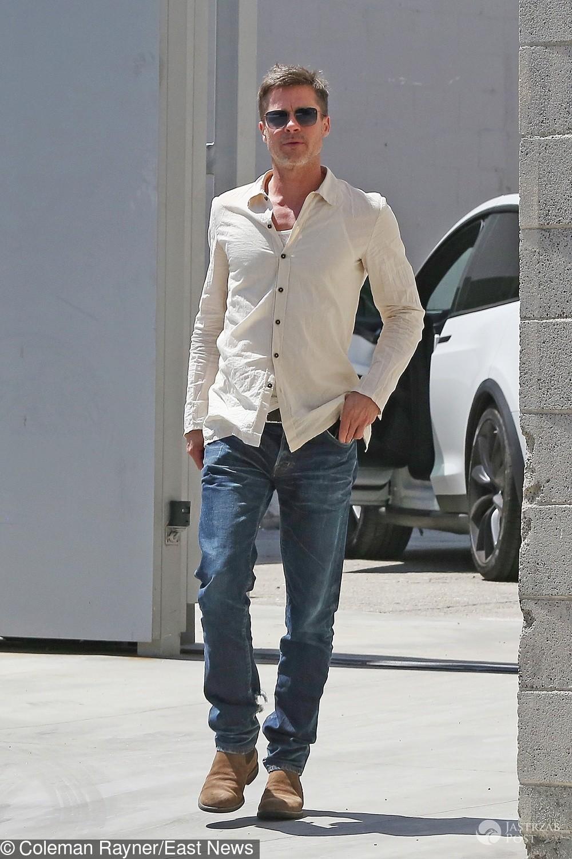 Wychudzony Brad Pitt