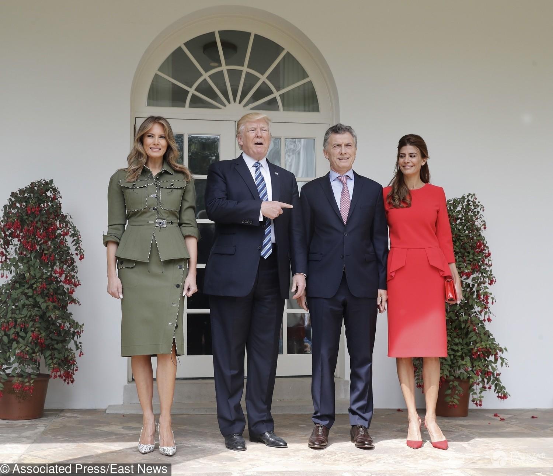 Melania Trump i Donald na spotkaniu z argentyńską parą prezydencką